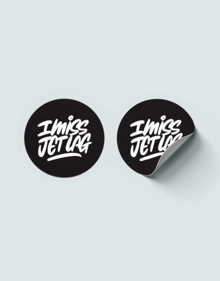 I miss jetlag sticker