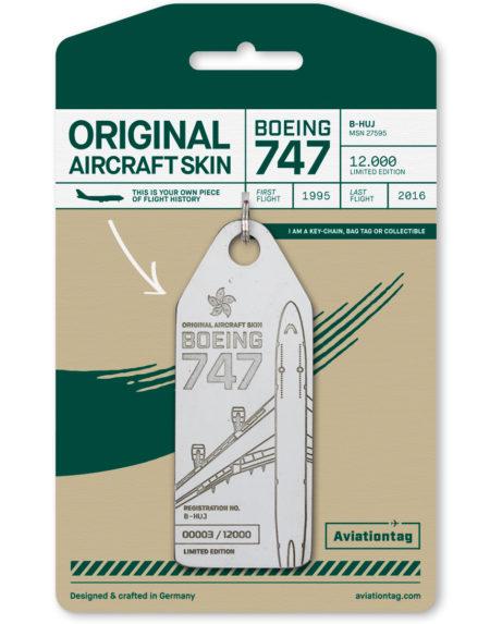 Cathay Pacific aviation tag B747