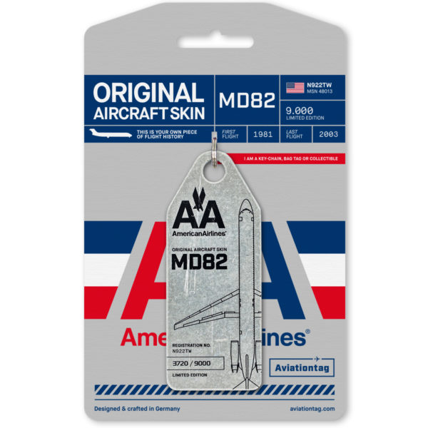 American Airlines aviation tag