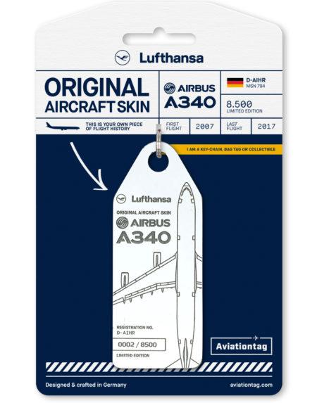 Lufthansa A340 luggage tag