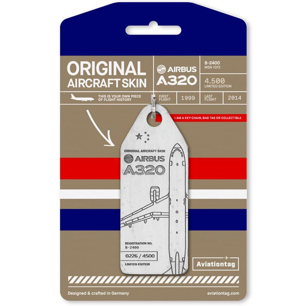 China Eastern Airlines A320 luggage tag